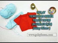 Kolay 0-6 Ay Bebek Yeleği Nasıl Yapılır ? - Gülay'ın Örgü Günlüğü - YouTube Crochet Phone Cover, Crochet Toys, Applique, Christmas Ornaments, Knitting, Holiday Decor, Youtube, Top, Free