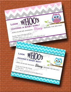 Baby Shower Printables, Baby Shower Invitations, Different Fonts, Digital Invitations, Having A Baby, Big Day, Invite, Cute Babies, Owl