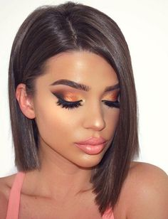 18 Charming Rose Gold Makeup Looks from Day to Night Rose Gold Makeup Looks, Bronze Makeup Look, Gorgeous Makeup, Pretty Makeup, Wedding Makeup Tips, Natural Wedding Makeup, Beauty Make-up, Hair Beauty, Make Up Gold