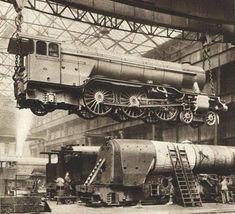 1935 train workshop, the Pacific train engine.