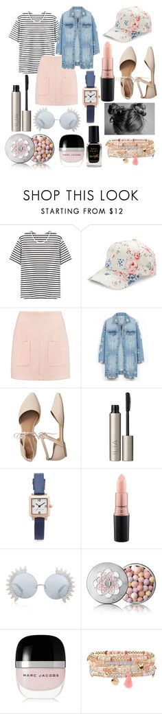 """""""Spring"""" by liljmac ❤ liked on Polyvore featuring BCBGeneration, See by Chloé, LE3NO, Gap, Ilia, Marc Jacobs, MAC Cosmetics, Linda Farrow, Guerlain and Accessorize"""