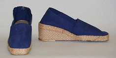 Jacques Cohen Espadrilles at the Metropolitan Museum of Art - Truly a work of art! Had these in so many colors, never dreamt they'd cease to exist. I find it only somewhat satisfying to know that there is a pair at the Metropolitan Museum of Art :(
