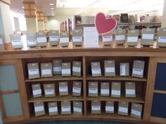 """Allen County Public Library's """"Blind Date with a Book"""" display. Library Programs, Library Card, Library Ideas, Book Displays, Library Displays, Singles Events, Summer Reading Program, Blind Dates, Books For Teens"""
