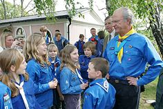 """The King has personally instituted the King Carl Gustaf Environmental Competition and the """"Royal Colloquium"""", an international environmental symposium held in Sweden. The King has been interested in scouting since childhood. He became a cub scout with the name Mowgli in 1955 and a scout in 1958."""