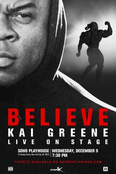 Generation Iron Kai Greene BELIEVE poster