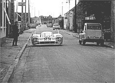Back in the 70's the Porsche Le Mans cars were prepared in a small village called Teloché, and driven on local roads to the track.