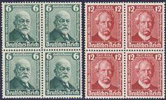 Germany, German Empire, German Reich 1936, Daimler / Benz, unhinged mint superb foursome souvenir sheet set (postfr., Michel-no. 604 / 605 / Michel EUR 64,). Price Estimate (8/2016): 10 EUR. Unsold.