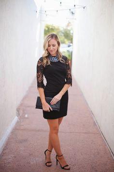 little black lace dress featuring LuLu*s