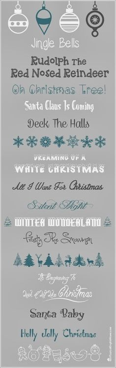 * Christmas fonts link {from Angela @ Typical English Home}
