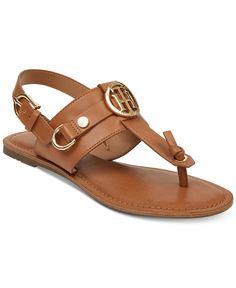 Tommy Hilfiger Luvee Flat Sandals Women's Shoes In Brown Brown Sandals, Flat Sandals, Leather Sandals, Shoes Sandals, Flats, Tommy Hilfiger Mujer, Tommy Hilfiger Fashion, Disney Shoes, Latest Shoe Trends