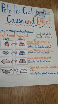 Pete the Cat: I Love My White Shoes-Cause and Effect anchor chart