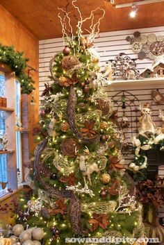 Rustic Bling Holiday Decor -