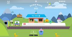 Some simple design from Melbourne public transport operator for its safety campaign 'Dumb way to die'.