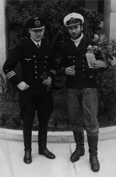 Kapitänleutnant Hardo Rodler von Roithberg  Kapitänleutnant Hardo Rodler von Roithberg, Kommandant of U-989 and Fregattenkapitän Heinrich-Lehmann Willenbrock Kommandant of U-96 (left)