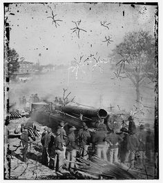 Sherman's men destroying railroad during the Civil War. Confederate States Of America, America Civil War, American War, American History, Shermans March, Civil War Quilts, Civil War Photos, Interesting History, World History