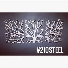 Crawling Branches 3-Piece Metal Wall Art - 210 Steel
