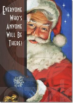 Santa Christmas Party Invitations - Customizable!