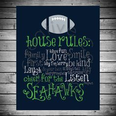 Hey, I found this really awesome Etsy listing at https://www.etsy.com/listing/177875025/seattle-seahawks-house-rules-8x10