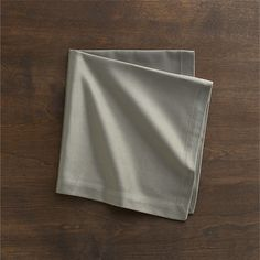 Sateen Silver Napkin in Napkins | Crate and Barrel