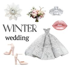 """""""#winterweddinh#2❄❄💞"""" by littlesushi on Polyvore featuring Bliss Diamond, Lime Crime and Gianvito Rossi"""