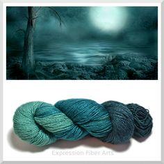 Expression Fiber Arts - STILL OF THE NIGHT - Pearlescent Silk Yarn 95-100g/300 yd , $34.00 (http://www.expressionfiberarts.com/products/still-of-the-night-pearlescent-silk-yarn-95-100g-300-yd.html)