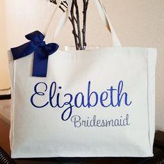 Bridesmaid Tote GiftDestination Wedding Bag Bride Team Personalized Custom