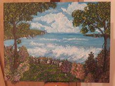 Acrylic on canvas painting 30 cm x 40 cm