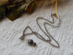 One of a Kind Sterling Silver and Crystal Necklace by bijoullery