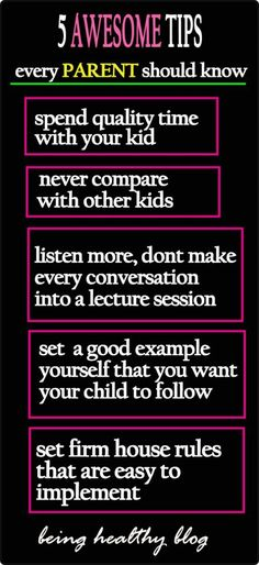 Remember these 5 awesome parenting tips and you will never have any trouble with your parenting. #parenting #parenthood #momhacks #positiveparenting