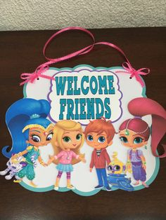 Shimmer and Shine Welcome sign by YulisCraft on Etsy