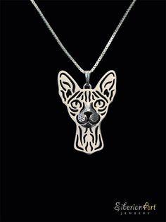 Sphynx cat jewelry  sterling silver pendant от SiberianArtJewelry