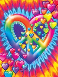 Art Print: Heart Peace by Lisa Frank : Hippie Peace, Happy Hippie, Hippie Love, Hippie Vibes, Tye Dye Wallpaper, Heart Wallpaper, Hippie Wallpaper, Summer Wallpaper, Cellphone Wallpaper