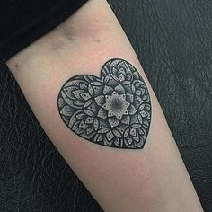 Heart from today, thanks Beth!  #dotwork #dotworkers #dotworktattoo #blackwork #blackworkers #heart #hearttattoo #mandala #mandalatattoo #triplesixstudios #tattoo