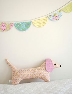Stuffed Animal Pattern - PDF Sewing Pattern  - Doxie Softie - Dog Sewing Pattern, must purchase for instructions