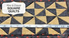 How do you achieve perfectly square, flat quilts with no puckers or pleats? Here are some tips >> www.nationalquilterscircle.com/ensuring-a-square-quilt #learnmorequiltmore