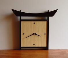 Ready to Ship Japanese-style Bamboo Wall Clock by takumidesigns24