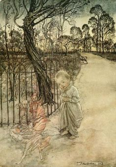 Peter Pan in Kensington gardens (1906) - Arthur Rackham (1867-1939)
