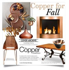 """""""Copper for Fall"""" by clotheshawg on Polyvore featuring interior, interiors, interior design, hogar, home decor, interior decorating, Pier 1 Imports, Lightyears y Blu Dot"""