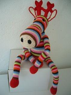 Crochet xmas reindeer.