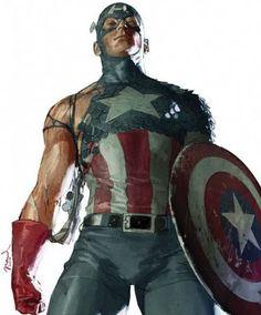 lospaziobianco: 1) Capitão América por Gerald Parel 2) Batman por ... |