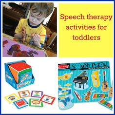 Easy, fun speech therapy activities for toddlers.