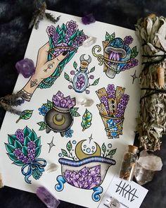29 ideas art tattoo ideas draw illustrations for 2019 Body Art Tattoos, Tattoos, Future Tattoos, Halloween Tattoos, Art Tattoo, Body Art, New Tattoos, Art, Witch Tattoo