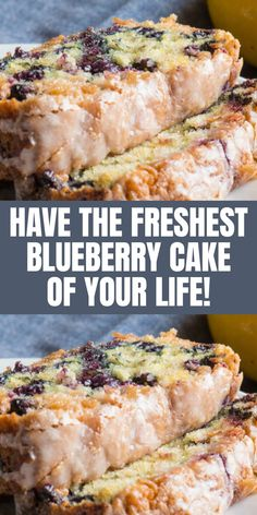 Have The Freshest Blueberry Cake Of Your Life!
