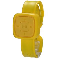 Yellow MP3 Player Micro SD/TF Slot Watch #fashionwatch #giftideas