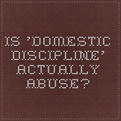 Domestic movement christian discipline My Opinion