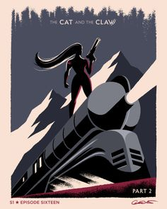 """Sketch of Episode 16 of Batman The Animated Series""""The Cat and the Claw: Part 2″ by George Caltsoudas"""