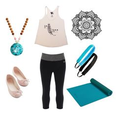 The perfect yoga outfit you can wear both on and off the mat.  Add a My TaT mandala tattoo as a reminder to keep balance in your life. #temporarytattoo