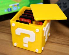 Nintendo Switch Question Block Cartridge Case - Gaming Case - Christmas Gift - Super Mario World - Printed - Game Accessory - Odyssey Game Room Decor, Room Setup, Video Game Rooms, Video Games, Video Game Bedroom, Video Game Decor, Nintendo Room, Super Nintendo, Nintendo Decor