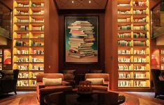 Lighted library on cruise ship