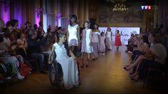 Reportage lors du 20H de Claire Chazal sur TF1 le 06/07 à propos de l'Handifashion Paris 2014. Durant cet évènement les mannequins masculins portèrent des tenues de Kpargaï Couture.